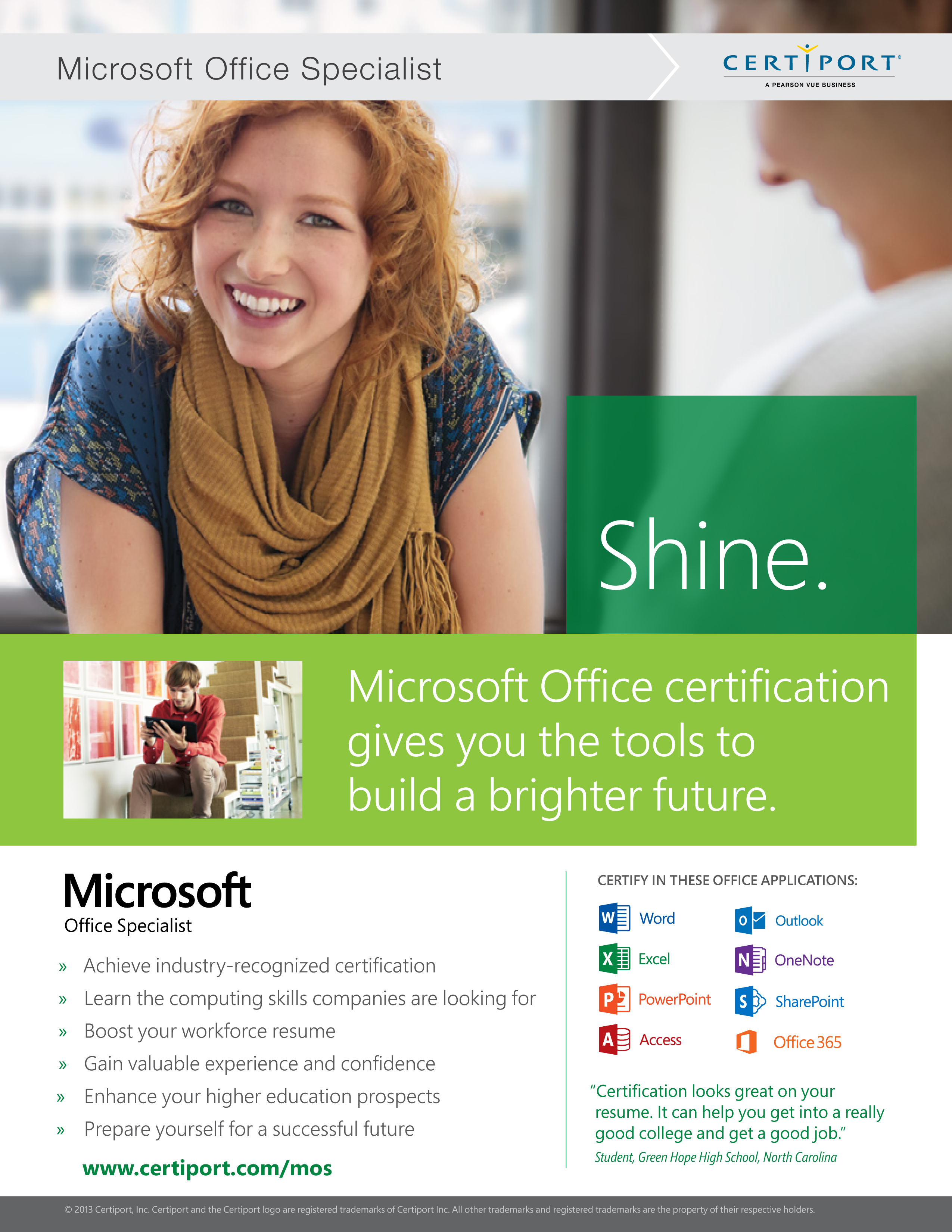 Program certifications web design interactive media mosacadenduserflyer earning a microsoft office specialist certification xflitez Choice Image